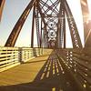 Fredericton bike path bridge that crosses the St. John River.