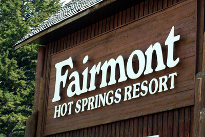 Our first stop was the Fairmont Hot Springs.  We spent several days there.