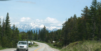 The Canadian Rocky Mts in the background.