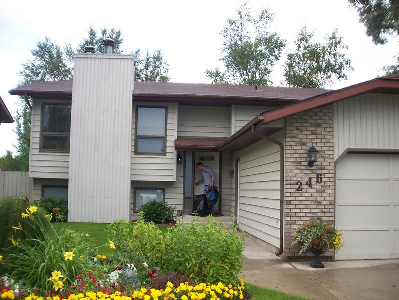 Armand and Tracy's house in Saskatoon.