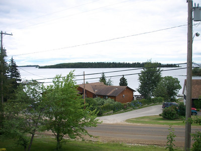 View of Lac LaRonge from front balcony