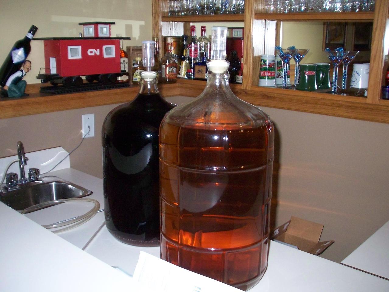 Armand's soon to be homemade wine.