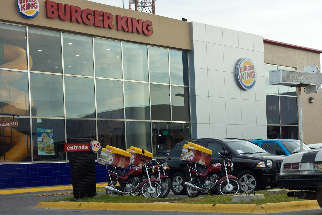 Burger King offers delivery in Cancun.  I will pass...