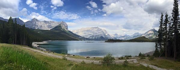 Our trailhead was at the Upper Kananaskis Lake, a manmade lake created in Kananaskis Provincial Park.