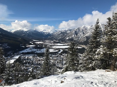 Banff and the Bow Valley from the top of Tunnel Mountain.