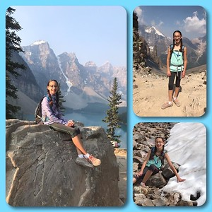 It's not every day that you get to spend your 11th birthday on top of the world...Starting at Moraine Lake and having everyone at the top of Sentinel Pass singing to you will be hard to beat. Happy birthday to our amazing girl--we love you up and down every mountain in the Valley of the Ten Peaks a million times and more!!!