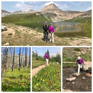 Still lots of smoke in Canmore, so we ended up northwest at Helen Lake...spectacular wildflowers...a great hike!
