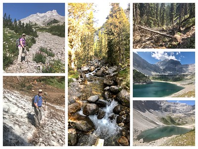 Galatea Lakes...this hike had everything...yes, that is snow in August, there was an avalanche! Lots of remains of the damage from the 2013 flood and gorgeous waterfalls! This was our hardest hike...900 meters (3000 ft) of elevation and 16 kilometers (10miles) long!