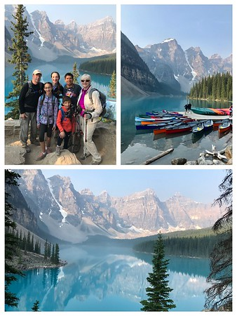 Starting our hike today at the always amazing Moraine Lake and the Valley of the Ten Peaks!