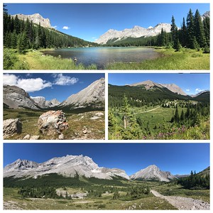 A beautiful hike to Elbow Lake today.