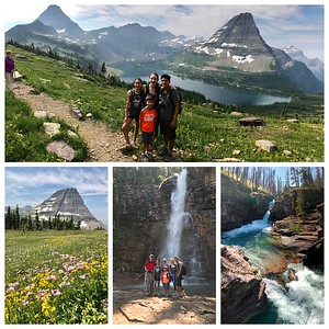 We started up Logan Pass in complete fog...absolutely amazing watching the fog lift and the mountains appearing...our second hike was to the spectacular Virginia Falls!