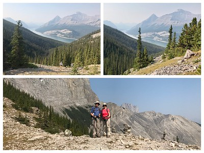 We are catching up...West Wind Pass...great views of the Spray Lakes!