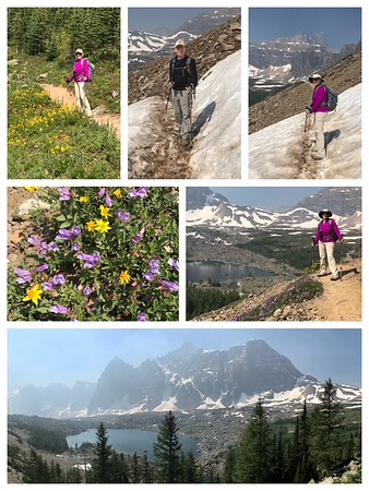 A great hike to Eiffel Lake with a few snow crossings and magnificent wildflowers