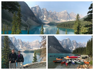 The always beautiful Moraine Lake