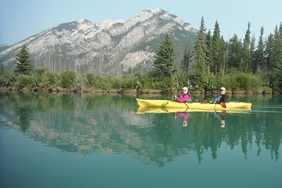 A fun morning kayaking on the Bow River.