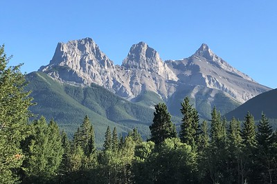 "The ""Three Sisters"" in Canmore Alberta...we love being here!"