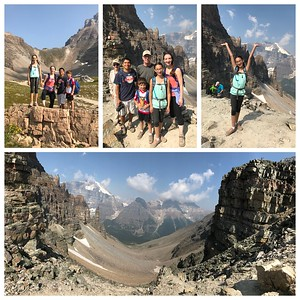 How about celebrating your 11th birthday on top of the world...Sentinel Pass...we hiked 750 meters (2500ft) up...pretty good for a 7 and 11 year old! We sang Happy Birthday on top and all the other hikers joined in!