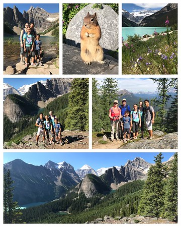 The always amazing Lake Louise...awesome hike up to the Lake Agnes Tea House and the Little Beehive...and a very photogenic ground squirrel!