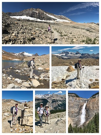 The Iceline hike...Glaciers on one side and a 1000 ft. Waterfall on the other side. Feels like being on top of the world again!