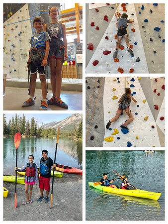 Rock climbing and kayaking and fun, oh my!
