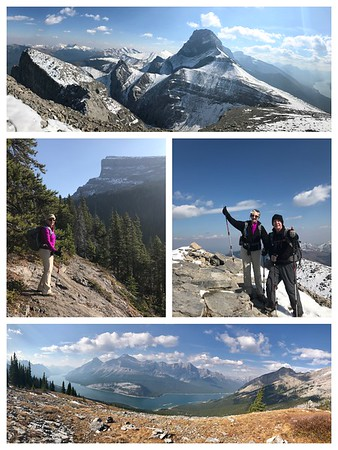 WOW...We did it... the Windtower Mountain Challenge...1000m (3280ft) elevation in 10k (6 miles)...it was tough, snow for the last third of the hike, and very windy and cold, but spectacular! Not bad for old people!