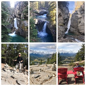 Johnston Canyon is always a beautiful hike with its waterfalls....then on to Tunnel Mt. with great views of the town of Banff!