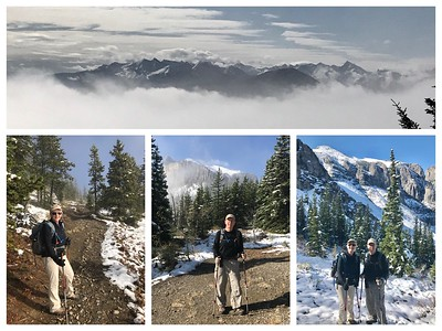 A stunning day...we hiked through the clouds and then a spectacular view at Mt Yamnuska!