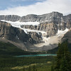 Looking across the valley from about 1/2 hr into the hike you get a great view of Bow Lake and the Crowfoot Glacier
