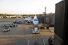 Our plane at Newark Airport