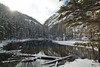 Lower Grassi Lake - the lakes are fed by hot springs and never completely freeze over.