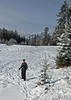And Bill out on the frozen lake.  Lots of snowshoe and cross country ski tracks on the lake.