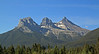 The Three Sisters - the symbol of the town of Canmore.