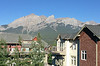 Beautiful clear sky and a view of the mountains from our balcony in the morning.