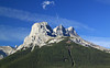 A different view of the Three Sisters from along the highway - not as distinctive as the more customary side view.