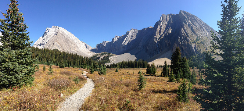 The upper meadow and cirque at Chester Lake.