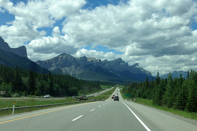 Arriving in Canmore.