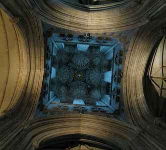Above the crossing of Canterbury cathedral.