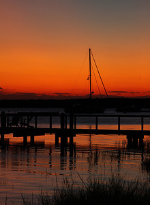 Sunset at Stage Harbor.