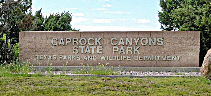 Entrance to Caprock Canyons Park