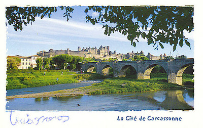 Carcassonne, France. We visited there on our trip to Spain in March 2000..