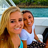Natalie and Rachel on the boat to St. Johns