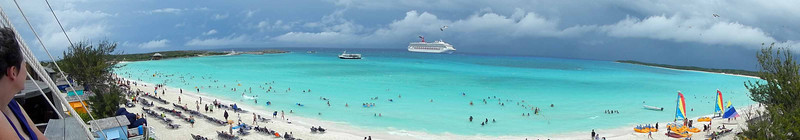 Second port: Half Moon Cay, which is Carnival's private island.