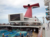 Video, live music and pools on the lido deck.