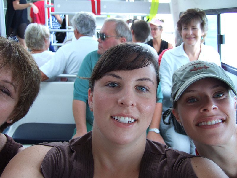 We tried to take our own picture on the tender to our first port which was Princess Cays, Eleuthra Bahamas.  It is a privately owned community that only Princess passengers are allowed at.  It was really nice because we just lounged on the beach and played in the water all day.  Sorry for cutting you off Judie.
