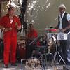 Musicians in sidewalk bar in Havana