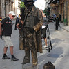 Street artist in Havana