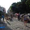 A pedestrian market for tourists.