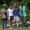 Our birding crew at Green Castle, Eduardo, Kim, Alan and Duane.
