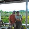 Kim and Alan on the veranda of Green Castle Estate