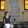 Kim by tomb of Ponce de Leon